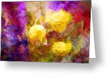Floral Art Xxxxv Greeting Card