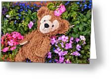 Floral Bear Greeting Card