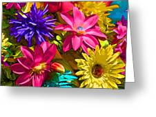 Floral Colors 1 Greeting Card