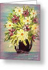 Floral Delight Acrylic Painting Greeting Card