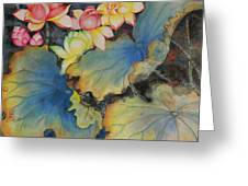 Floral Dragon Fly Greeting Card
