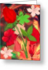 Floral Escapade  Greeting Card