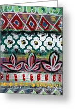 Floral Fiesta- Colorful Pattern Painting Greeting Card