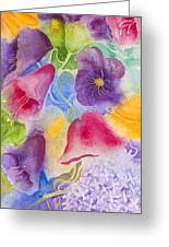 Floral Glory Dos Greeting Card