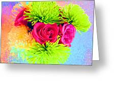 Floral Glow Greeting Card