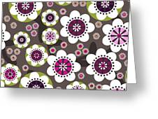 Floral Grunge Greeting Card by Lisa Noneman