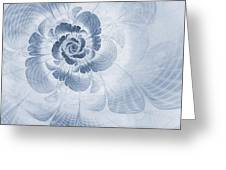 Floral Impression Cyanotype Greeting Card