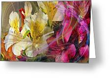 Floral Inspiration - Square Version Greeting Card