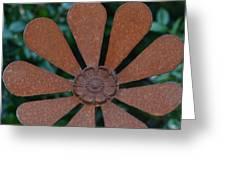 Floral Metal Art Greeting Card