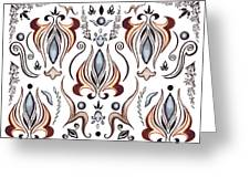 Floral Pattern I Greeting Card
