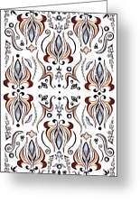 Floral Pattern IIi Greeting Card