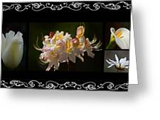 Floral Photomontage 1 Greeting Card
