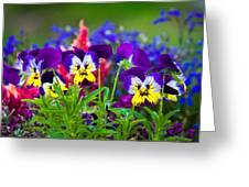 Floral Salad Greeting Card