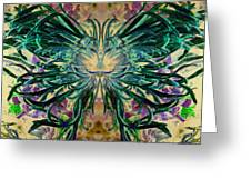 Floral Synapse 2 Greeting Card