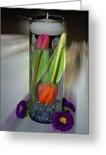 Floral Table Piece Greeting Card