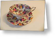 Floral Tea Cup Greeting Card