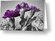 Floral Texture  Greeting Card