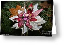 Floral Tree Ornament Greeting Card