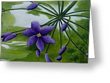 Floral Triptych 3. Greeting Card