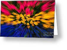 Floral Triple Zoom Greeting Card