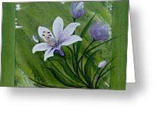 Floral Triptych 2 Greeting Card