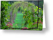 Floral Window Greeting Card
