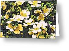 Floral Yellow Greeting Card