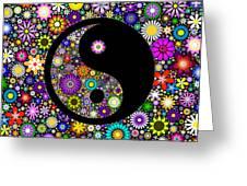 Floral Yin Yang Greeting Card