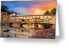 Florence Bridge Greeting Card