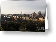 Florence Form The Piazza Michalengelo Greeting Card