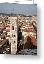 Florence From The Top Of Brunelleschi's Dome Greeting Card