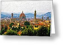 Florence Impasto Greeting Card