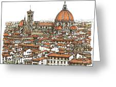 Florence In Colour Greeting Card
