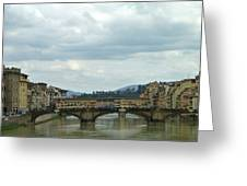 Florence. Ponte Vecchio Greeting Card