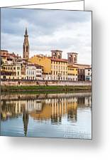 Florence Reflection Greeting Card by Luis Alvarenga