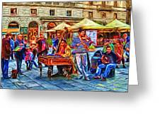 Florence Street Musicians Greeting Card