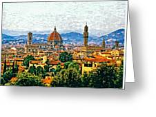 Florence Watercolor Greeting Card