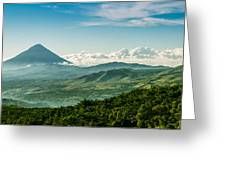 Flores Volcano Greeting Card