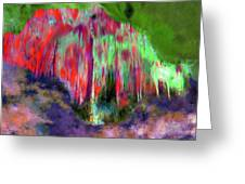Florescent Cave Greeting Card