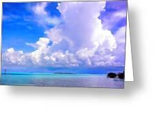 Florida Bay At Shell Pass Filtered Greeting Card