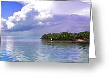 Florida Bay Island Filtered Greeting Card