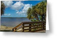 Florida Beach Sky Line. Greeting Card