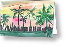Florida City-skyline3 Greeting Card