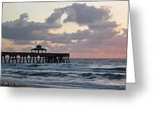 Florida Fishing Pier Greeting Card