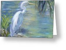 Florida Keys Egret Greeting Card