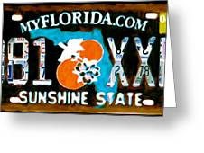 Florida License Plate Greeting Card