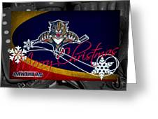 Florida Panthers Christmas Greeting Card