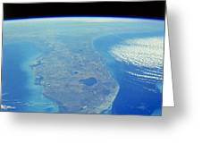 Florida Peninsula, Discovery Shuttle Greeting Card