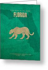 Florida State Facts Minimalist Movie Poster Art  Greeting Card
