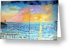 Florida Sunset Greeting Card by Vicky Tarcau